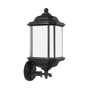 Kent Oxford Bronze 8.5-Inch One-Light Outdoor Bottom Base Wall Sconce
