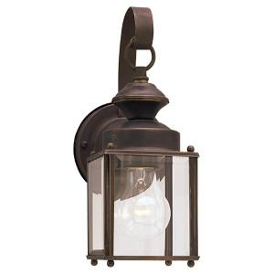 Jamestowne Antique Bronze 4-Inch Wide One-Light Outdoor Wall Lantern