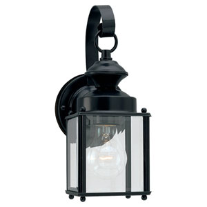 Jamestowne Small Black Outdoor Wall Lantern