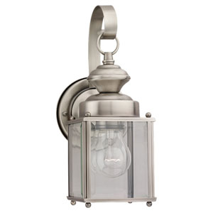 Jamestowne Small Antique Brushed Nickel Outdoor Wall Lantern