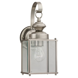 Jamestowne Medium Antique Brushed Nickel Outdoor Wall Mount