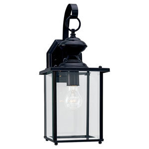 Jamestowne Black Large Outdoor Wall Mounted Lantern
