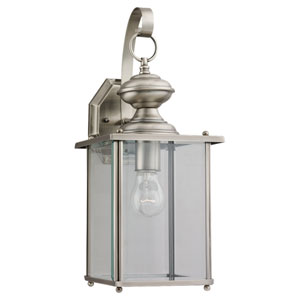 Jamestowne Large Antique Brushed Nickel Outdoor Wall Lantern