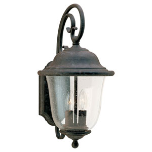 Trafalgar Large Two-Light Outdoor Wall Mount