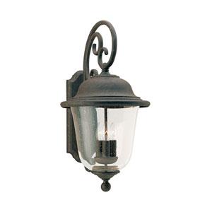 Trafalgar Oxidized Bronze 12-Inch Energy Star Three-Light Outdoor Wall Lantern
