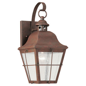 Colonial Copper One-Light Outdoor Wall Mount
