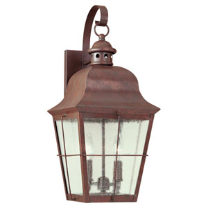 Colonial Copper Two-Light Outdoor Wall Mount