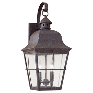Colonial Bronze Two-Light Outdoor Wall Mount