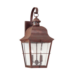 Chatham Silver 9-Inch Energy Star Two-Light Outdoor Wall Lantern