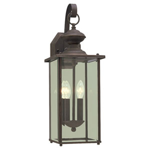 Antique Bronze Two-Light Outdoor Wall Mount