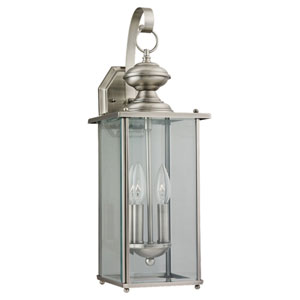 Jamestowne Antique Brushed Nickel Outdoor Wall Mounted Lantern
