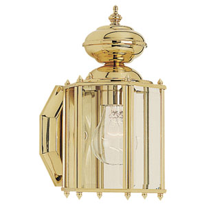 Classico Small Polished Brass Outdoor Wall Mounted Lantern