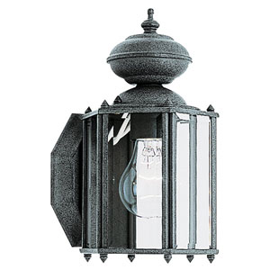 Classico Black Outdoor Wall Lantern