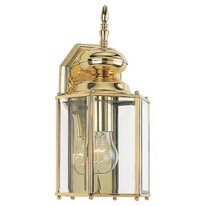 Classico Large Polished Brass Outdoor Wall Mounted Lantern