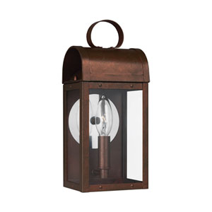 Conroe Weathered Copper One-Light Outdoor Wall Sconce