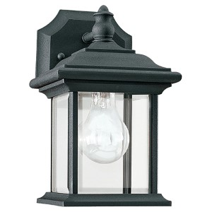 Wynfield Black 10-Inch High One-Light Outdoor Wall Lantern
