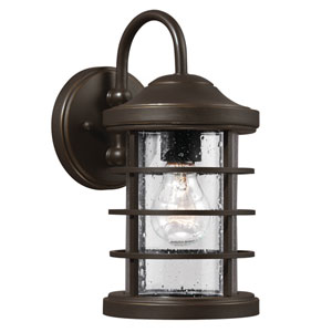 Sauganash Antique Bronze 12.25-Inch One Light Outdoor Wall Lantern