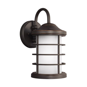 Sauganash Antique Bronze 6-Inch One-Light Outdoor Wall Sconce