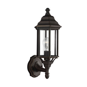 Sevier Antique Bronze 6.5-Inch One-Light Outdoor Wall Lantern