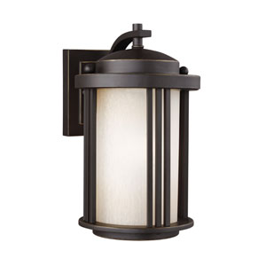 Crowell Antique Bronze 6-Inch One-Light Outdoor Wall Sconce