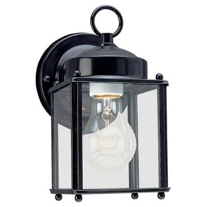 New Castle Black One-Light Outdoor Wall Lantern