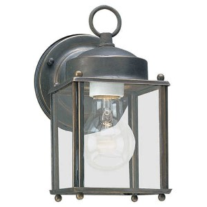 New Castle Antique Bronze One-Light Outdoor Wall Lantern