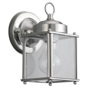 New Castle Antique Brushed Nickel One-Light Outdoor Wall Lantern