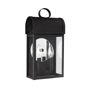 Conroe Black Two-Light Outdoor Wall Sconce