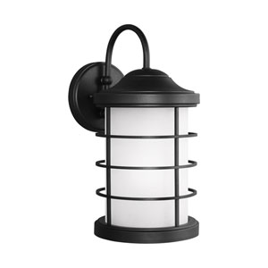 Sauganash Black One-Light 8.5-Inch Outdoor Wall Sconce