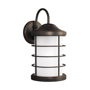 Sauganash Antique Bronze 8.5-Inch One-Light Outdoor Wall Sconce