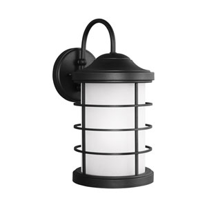 Sauganash Black 8.5-Inch Outdoor LED Dark Sky Wall Sconce