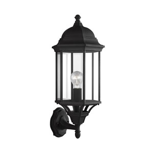 Sevier Black 9-Inch One-Light Outdoor Wall Lantern