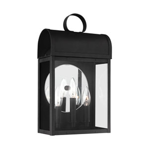 Conroe Black Three-Light Outdoor Wall Sconce