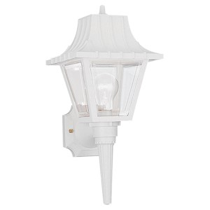 White 8-Inch Wide One-Light Outdoor Wall Lantern