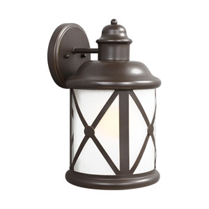 Lakeview Antique Bronze 8-Inch One-Light Outdoor Wall Lantern
