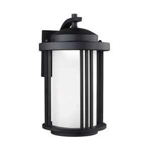 Crowell Black 9-Inch Outdoor LED Wall Sconce