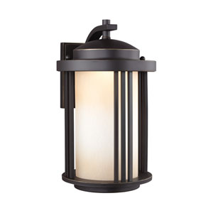 Crowell Antique Bronze 9-Inch Outdoor LED Wall Sconce