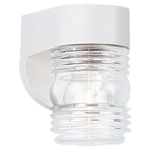 White 4.5-Inch Wide One-Light Outdoor Wall Lantern