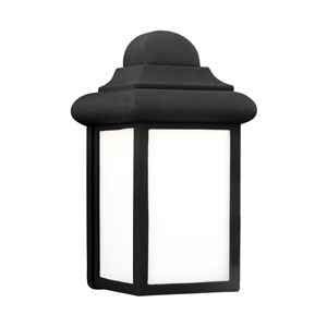 Mullberry Hill Black 6-Inch One-Light Outdoor Wall Lantern