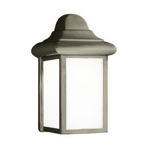Mullberry Hill Pewter 6-Inch One-Light Outdoor Wall Lantern
