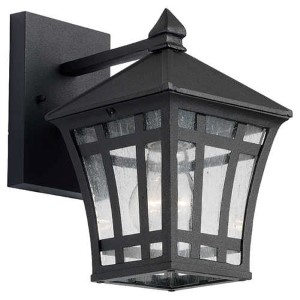 Herrington Black One-Light Outdoor Wall Lantern