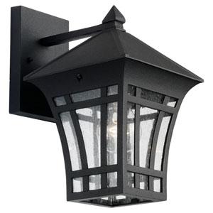 Herrington One-Light Black Outdoor Wall Lantern