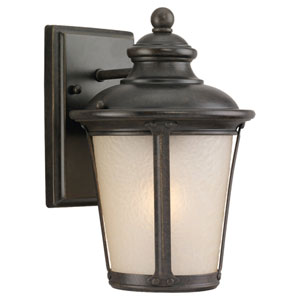 Cape May Small Burled Iron Outdoor Wall Mounted Lantern