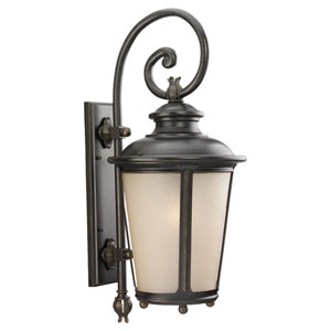 Cape May Burled Iron Outdoor Wall Mounted Lantern