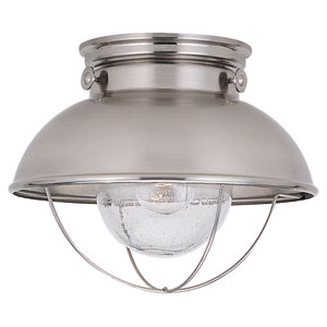 Sebring Outdoor Brushed Stainless Flush Ceiling Light