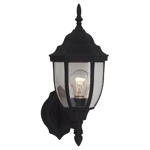 Bakersville Black 15.5-Inch High One-Light Outdoor Wall Lantern