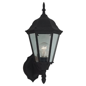 Bakersville Black 17-Inch High One-Light Outdoor Wall Lantern