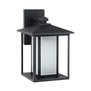 Hunnington Black 9-Inch One-Light Outdoor Wall Lantern