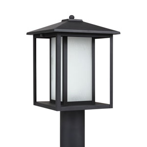 Hunnington Black 9-Inch One-Light Outdoor Post Lantern