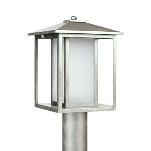 Hunnington Weathered Pewter 9-Inch One-Light Outdoor Post Lantern
